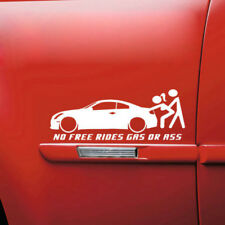 Waterproof  No Free Rides Gas Or Ass Funny Car Window Sticker Truck Bumper Decal