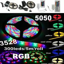 3528 5050 300LED SMD RGB White Led Strip Light Waterproof + Controller + Adapter
