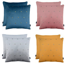 Luxury Quality Soft Velvet Embellished Metal Studs Scatter Filled Cushion Covers