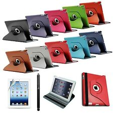 360 Rotating PU Leather Case Cover Stand For iPad 2 / 3 / 4 Stylus & Film Y