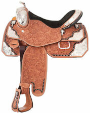 15 Inch Silver Royal Light Oil Premium Extreme Silver Show Saddle