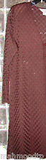 Exclusively MISOOK  Acrylic long JACKET/duster lace Brown L ( hand washed once)