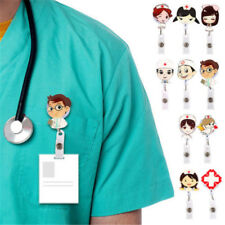 Retractable Badge Reel Nurse School Supplie Exihibiton ID Name Card Badge Holder