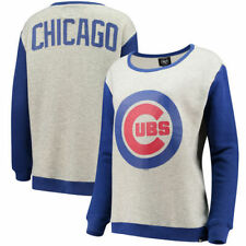 Chicago Cubs '47 Women's Kyla Sweater - Gray/Royal