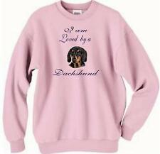 Dog Sweatshirt - I am Loved by a Dachshund Adopt -T Shirt Available Men Cat # 6