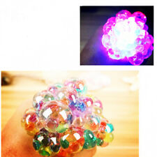Colorful Glowing Anti Stress Reliever Mesh Grape Ball Squeeze Stress Relief Toys