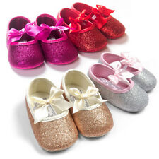 Glitter Fashion Cute Infant Baby Girl Toddler Princess Soft Sole Canvas Shoes