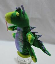 """Pappa Geppetto Dragon Pony Hand Puppet Plush Green Manhattan Toy 8"""""""
