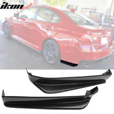 Fits 15-18 Subaru WRX STI VA1 VA2 Rear Bumper Lip ABS Apron Spats Splitter (Fits: More than one vehicle)