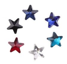 60 /180 PCS Mixed Colors Pointed Star Fancy Glass Stones 10mm (6 Colors)