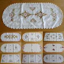 Cream Embroidered Doilies Table Runner - 38 x 85cm