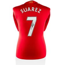 Luis Suarez Signed Liverpool Shirt 2014/15 - Fan Style Number 7 Autograph