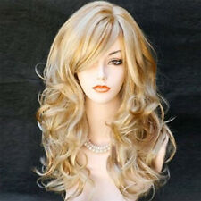 Sexy Womens Blonde Wig Ombre Long Brown Gold Straight Wavy Synthetic Hair Wigs