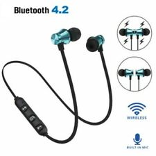 Bluetooth USB Stereo Earphone Headset Wireless Magnetic In-Ear Earbuds Headphone