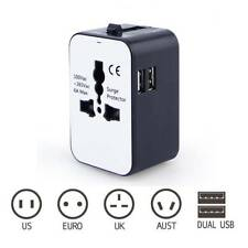 Universal Multi-Outlet Adapter Travel Power Plug Strip Converting With 2USB