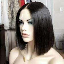 Malaysian Human Hair Bob Short Wig Lace Front Wigs Pre Plucked Natural Hairline