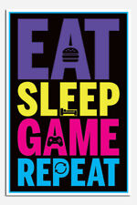 Laminated Eat Sleep Game Repeat Official Maxi Poster