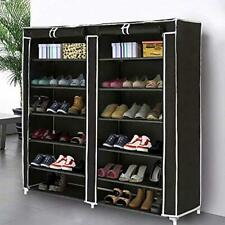 Double Rows 6 Layer Shoe Rack Shoe Storage Organizer Cabinet Tower Easy Setup