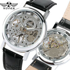 WINNER Luxury Mens Skeleton Mechanical Hand Winding Sport Wrist Watch Gift