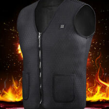 Electric Vest Heated Cloth Jacket USB Thermal Warm Heated Winter Body Warmer US
