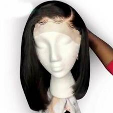 Short Straight Bob Lace Front Wigs Malaysian Virgin Human Hair Wig Side Part X#1