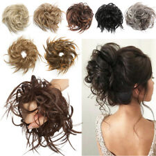 THICK Real Large Messy Bun Scrunchie Hair Extensions As Human Ponytail Updo 48g