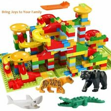 Marble Run Set Puzzle Maze Race Track Game Toy Roller Building Block Brick Lego,