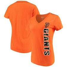 San Francisco Giants G-III 4Her by Carl Banks Women's Asterisk V-Neck T-Shirt -
