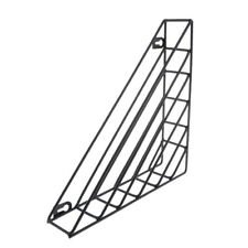 Wall Mounted Metal Wire Magazine Rack Triangle Style Mail Sorter Holder