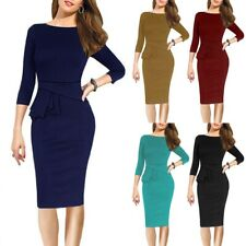 Elegant Women's Office Formal Business Work Party Sheath Tunic Pencil Dress YY