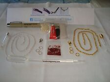 DIY Name on Rice Necklace Kit oil pen vial + more Silver, Gold, or Black Chain