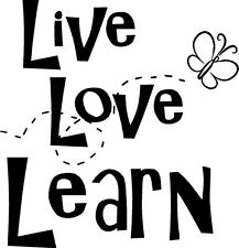 Live Love Learn Wall Sticker Word Letters Vinyl Decal
