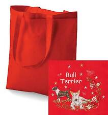 Bull Terrier Tote Bag Embroidered by Dogmania