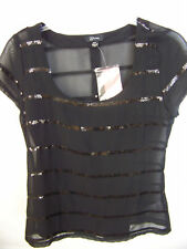 GUESS Sheer HOLIDAY Blouse Sequins over Cami ALL SIZES