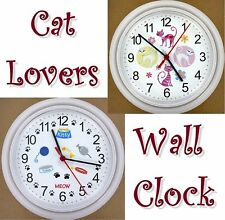 CAT WALL CLOCK Kitty Kitten Paws Feline Pet Cats Purr Meow Mouse Kitteh NEW