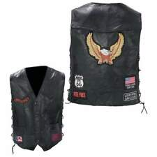 Leather Vest Vests Motorcycle Bike Eagle
