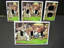 POOL BILLIARD DOGS  LIGHT SWITCH OR OUTLET COVER