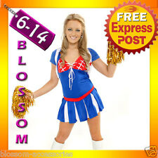 271 Cheerleader Outfit Fancy Dress Up Costume +Pom Poms
