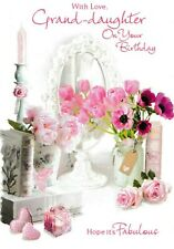 traditional grand-daughter birthday card granddaughter 10 x cards to choose from