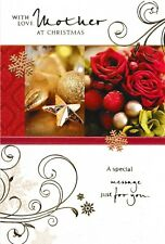traditional with love MOTHER christmas card - multi listing