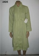 NEW size L or M FLAX Linen ZIP SMOCK Dress/Duster 10 prints & solids $100+ value