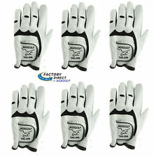 AGXGOLF MEN'S CABRETTA LEATHER GOLF GLOVES MLH SIX PACK FOR RIGHT HANDED GOLFERS