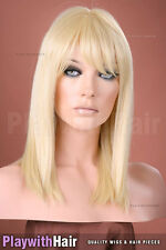 Classic Long Bob Heat Friendly Wig - COLOUR CHOICES!