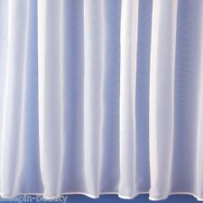 PURE WHITE LEAD WEIGHTED PLAIN NET WINDOW CURTAIN 1146 DIFFERENT SIZES AVAILALE