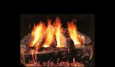 "24"" Baypointe Vented Fireplace Gas Logs COMPLETE Safety Pilot and Remote NG LP"