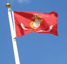 3x5 FT US MADE USMC MARINE CORPS FLAG, AMERICAN FLAG & ALL OTHER MILITARY FLAGS