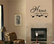Home Is Where The Heart Is Vinyl Decal Sticker Wall Lettering Home Decor Words