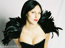 COQUE FEATHER COLLAR/WINGS-BLACK,BLUE,RED,PINK,PURPLE-GOTH/CLUB/EVENING-HERESY!