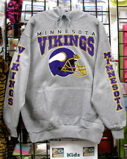 Minnesota VIKINGS- GRAY Sweatshirt/HOODIE Sizes S, M, L, XL, 2XL, 3XL, 4XL, 5XL