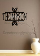 Custom Family Name Vinyl Decal Sticker Wall Letters Lettering Words With Border